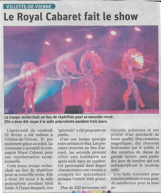 Journal Royal Cabaret Villette de Vienne